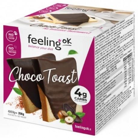 Biscotti e Dolci Feeling Ok, Choco Toast Start, 4 x 50 g