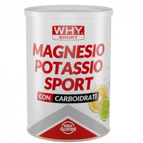 Idratazione WHY Sport, Magnesio Potassio Sport, 400 g. + Borraccia