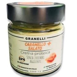 Creme Proteiche Granelli Food, Caramello Salato +, 250 g