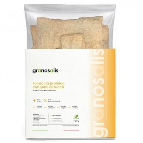 Pane e Prodotti da Forno Granosalis, Focaccia Proteica con Farina di semi di Zucca, 200 g