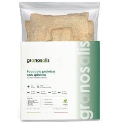 Pane e Prodotti da Forno Granosalis, Focaccia Proteica con Alga Spirulina, 200 g