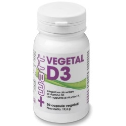 Vitamina D +Watt, Vegetal D3, 50 cps