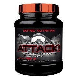 Pre Workout Scitec Nutrition, Attack 2.0, 720 g.