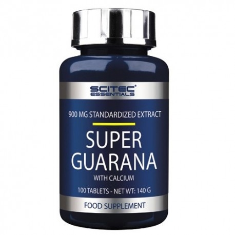 Guarana Scitec Nutrition, Super Guarana, 100 cpr.