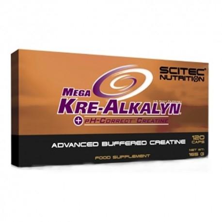 Creatina Scitec Nutrition, Mega Kre-Alkalyn, 120cps.