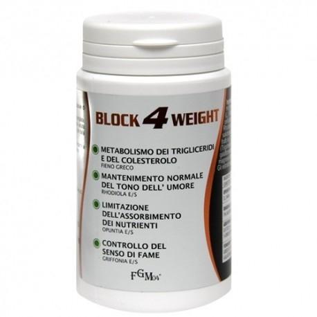 Coadiuvanti diete dimagranti FGM04, Block 4 Weight, 60cps.