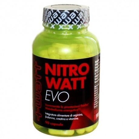 Pre Workout +Watt, Nitrowatt Evo, 90cps.