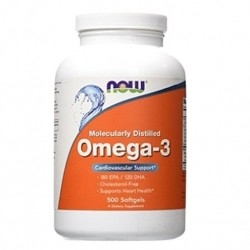 Omega 3 Now Foods, Omega-3, 500 Softgels.